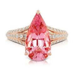 Morganite rings by @Gem_KatFlorence.