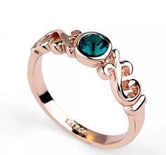 anel de formatura banhado a ouro 18k pedra verde