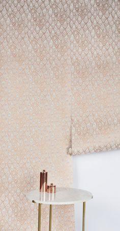 Boho Diamond Wallpaper Copper Blush