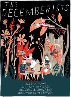 The Decemberists by Carson Ellis #art #music