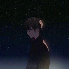 Credits to the artist. Sad Anime, Anime Guys, Anime Art, Boy Drawing, Couple Wallpaper, Avatar Couple, Boy Art, Couple Art, Pretty Art