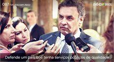 Vamos dar um basta na precariedade dos serviços públicos do Brasil. #ParaMudarOBrasil #AecioNeves http://120diascomaecio.tumblr.com/