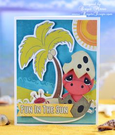 Fun in the Sun! SVG Cuts, Echo Park Paper, Silhouette Cameo.