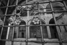 """Bologna. Palazzo Re Enzo Courtyard - """"Intriguing Bologna... in Black and White"""" by @1step2theleft"""