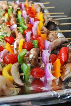 What's Cookin, Chicago?: Roasted Veggie Kabobs