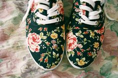i'd wear tennis shoes if they had flowers on them