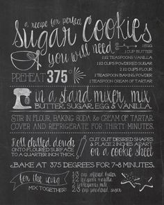 Free printable Gingerbread Cookie Recipe Chalkboard - Such a cute addition to your Christmas kitchen decor! Diy Christmas Decorations For Home, Diy Christmas Gifts, Christmas Cookies, Christmas Treats, Holiday Decor, Ginger Bread Cookies Recipe, Cookie Recipes, Christmas Chalkboard, Cookie Cutter Set