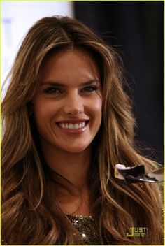 Alessandra Ambrosio... great hair and like the cutest nose ever.