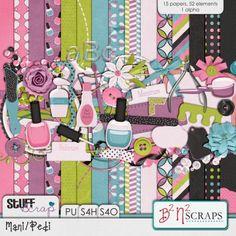Mani Pedi by B2N2 Scraps #digitalscrapbooking #scrapbooking #stufftoscrap
