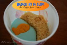 Beach in a Cup! sand snack