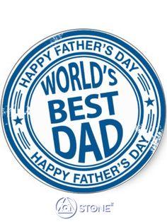 Worlds best #Dad #HappyFathersDay #Holiday #StoneSquared