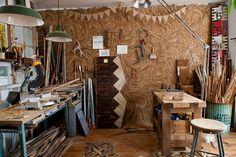 Ariele Alasko's workspace via Design*Sponge