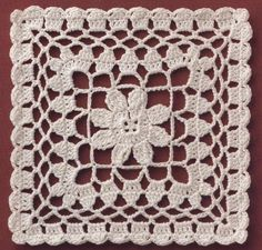 Transcendent Crochet a Solid Granny Square Ideas. Inconceivable Crochet a Solid Granny Square Ideas. Filet Crochet, Crochet Quilt, Crochet Blocks, Crochet Squares, Thread Crochet, Granny Squares, Crochet Diagram, Crochet Afghans, Free Crochet Doily Patterns