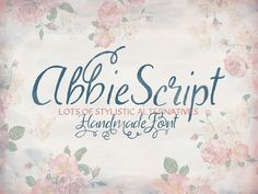Abbie Script is a beautiful handwritten script font that has been hand drawn, scanned, and digitized for you to enjoy. The primary aim with Abbie Script was to create a readable and elegant script ...