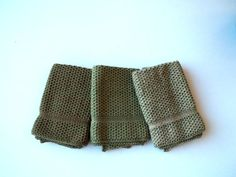 Dish Cloths Knit in Cotton in Creeper Green by TheNeedleHouse, $12.00