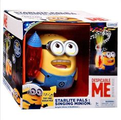 www.toytoy.land // Perfect Gift! Despicable Me Singing Minion Toy Night Light Doll New Sounds