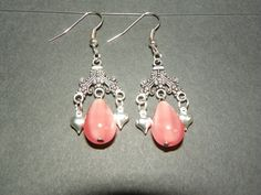 Valentine's Day Pink silver hearts by CathysCreationsPlus on Etsy