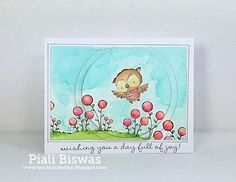 Piali Biswas - Ruby and Blooms Card