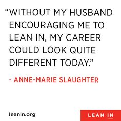 Anne-Marie Slaughter Leans In