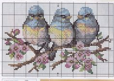 I really like these birds....Gallery.ru / три - Приятные мелочи-1:миниатюры на разные темы - frango