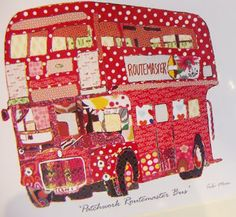 patchwork Routemaster bus, available at London Transport Museum Shop http://www.ltmuseumshop.co.uk/  #london #sewing #bus  How I wish they had that in the shop when I was there last year...