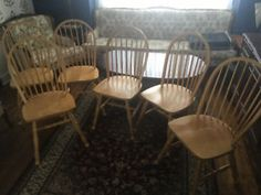 6 Bass River Wooden Chairs