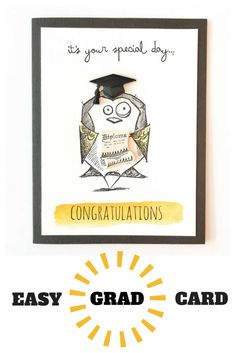 Easy Graduation Card using 3D buttons from www.buttonsgaloreandmore.com