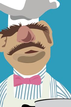The Muppets  Swedish Chef by retroartprint on Etsy, $20.00