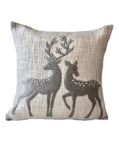 Accent Pillows, Throw Pillows, Deer Decor, Pillow Covers, Vibrant Colors, Xmas, Cozy, Holiday, Cotton