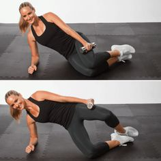 Strength Exercise: Weighted Clam Bridge - The Short-Shorts Workout Routine - Shape Magazine