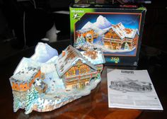 Ski Chalet, 254 Piece 3D Jigsaw Puzzle Made by Wrebbit Puzz-3D, Brand New Sealed #Wrebbit