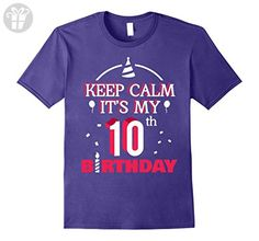 Mens Keep Calm It's My 10th Birthday - Birthday Shirt Gifts 3XL Purple - Birthday shirts (*Amazon Partner-Link)