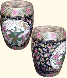 Hand Painted Chinese Porcelain Garden Stool with Royal Peacock Design Garden Stools, Asian Garden, Peacock Design, Oriental, Porcelain, Chinese, Hand Painted, Stuff To Buy, Painting