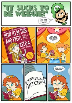 Karma is a bitch, princess :P (Check out some of the other comics she is featured in from this series and you'll see what I mean about her and karma. To tell the truth, I like the real Princess Daisy from the Mario series.) (http://kevinbolk.deviantart.com/)