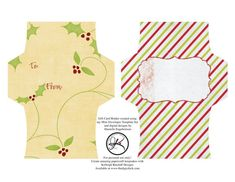 FREE Gift Card Envelope Printable