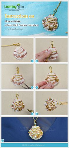 Instructions on How to Make a Puka Shell Pendant Necklace