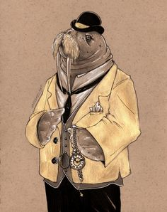 Pocket Watch Walrus