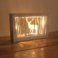 Festive LED Decorative Reindeer Light Box - The Farthing  - 1