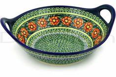 Serving Bowl   Polish Pottery Stoneware dinnerware serving bowl