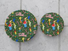 Reusable Eco Friendly Bowl Covers Simpsons Design by bgreenbuyused