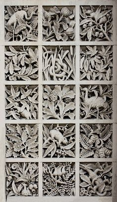 Panel of Australiana motifs, former South Yarra Post Office, 162 Toorak Road, South Yarra. Find inspiration in all arts Melbourne, Art Sculpture, Stone Sculpture, Victorian Architecture, Historical Architecture, Clay Tiles, Romanesque, Tile Art, Art Plastique