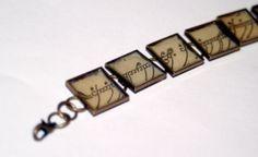 Lord of the Rings Elvish Script Bracelet  Wear by thebookishlife, $24.00