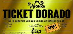 Golden Ticket  #GoldenTicket #Wonka #TicketDorado #ChalieylaFabricadeChocolate Ticket Dorado, Golden Ticket, Baptism Favors, Invitation Cards, Events