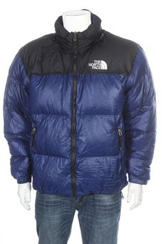5128887929 Vintage The North Face Goose Down 700 puffer Jacket Blue Black Size XL