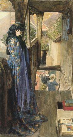 "Eleanor Fortescue-Brickdale (British, ""The Ugly Princess"", (c. Eleanor Fortescue-Brickdale (British, ""The Ugly Princess"", (c. Art Ancien, Illustration Art, Illustrations, Pre Raphaelite, Fantasy Art, Fairy Tales, Art Photography, Fine Art, Artwork"