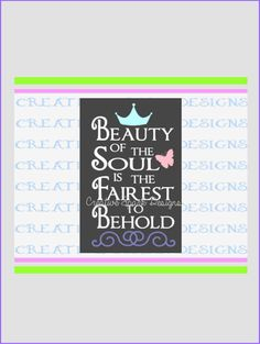 Beauty of the Soul Canvas Art DIY SVG by CreativeSparkDesigns