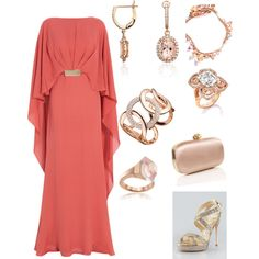 'Going broke' Peach evening outfit