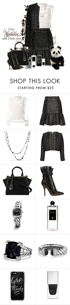 """""""Black and White"""" by sugerpop ❤ liked on Polyvore featuring RED Valentino, M Missoni, David Yurman, Fendi, Alaïa, Serge Lutens, Casetify, Givenchy and Hansa"""
