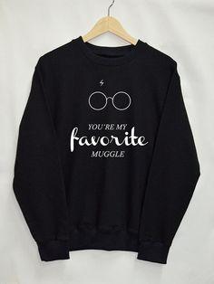 U bent mijn fovorite dreuzel Harry potter kleding Zweinstein shirt kleding trui Sweatshirt Top Tumblr Fashion Slogan grappige Jumper Zwadderich