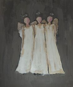 Paint Your Own Christmas Angels I saw this simple to paint trio of angels designed by Cynthia Fortner in the Better Homes and Gardens Holiday Cra Christmas Angels, Christmas Art, Beautiful Christmas, Christmas Poinsettia, Crochet Christmas, Painting Lessons, Art Lessons, Painting Classes, Angel Artwork
